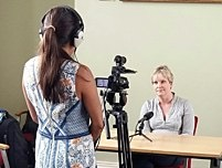 Image: SGHT CEO Alison Neil during a media interview