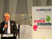 Image: Client David Roulston, Director of Healthwatch Oxfordshire
