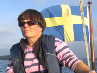 Image: Firebird MD Jane Bevan in Sweden