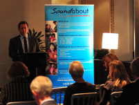 Image: Keynote speaker Ed Vaizey MP and Minister for Culture, Communications and Creative Industries at the launch of Sounds of Intent